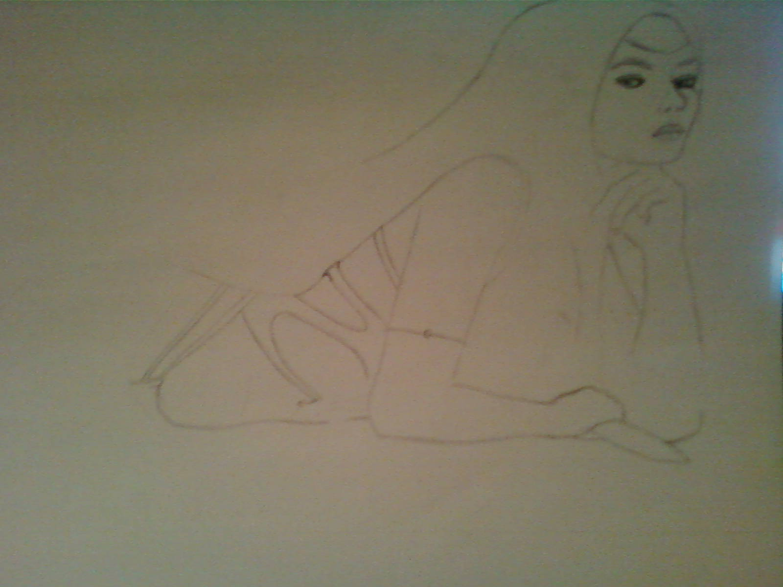 Diosa Etain B/N dibujo