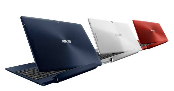 Asus Transformer TF300T in three colours