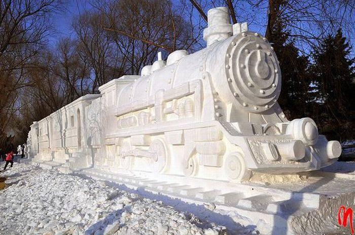 Rzeźby ze śniegu 46