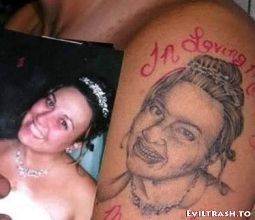 Głupie, śmieszne i zadziwiające tatuaże 13