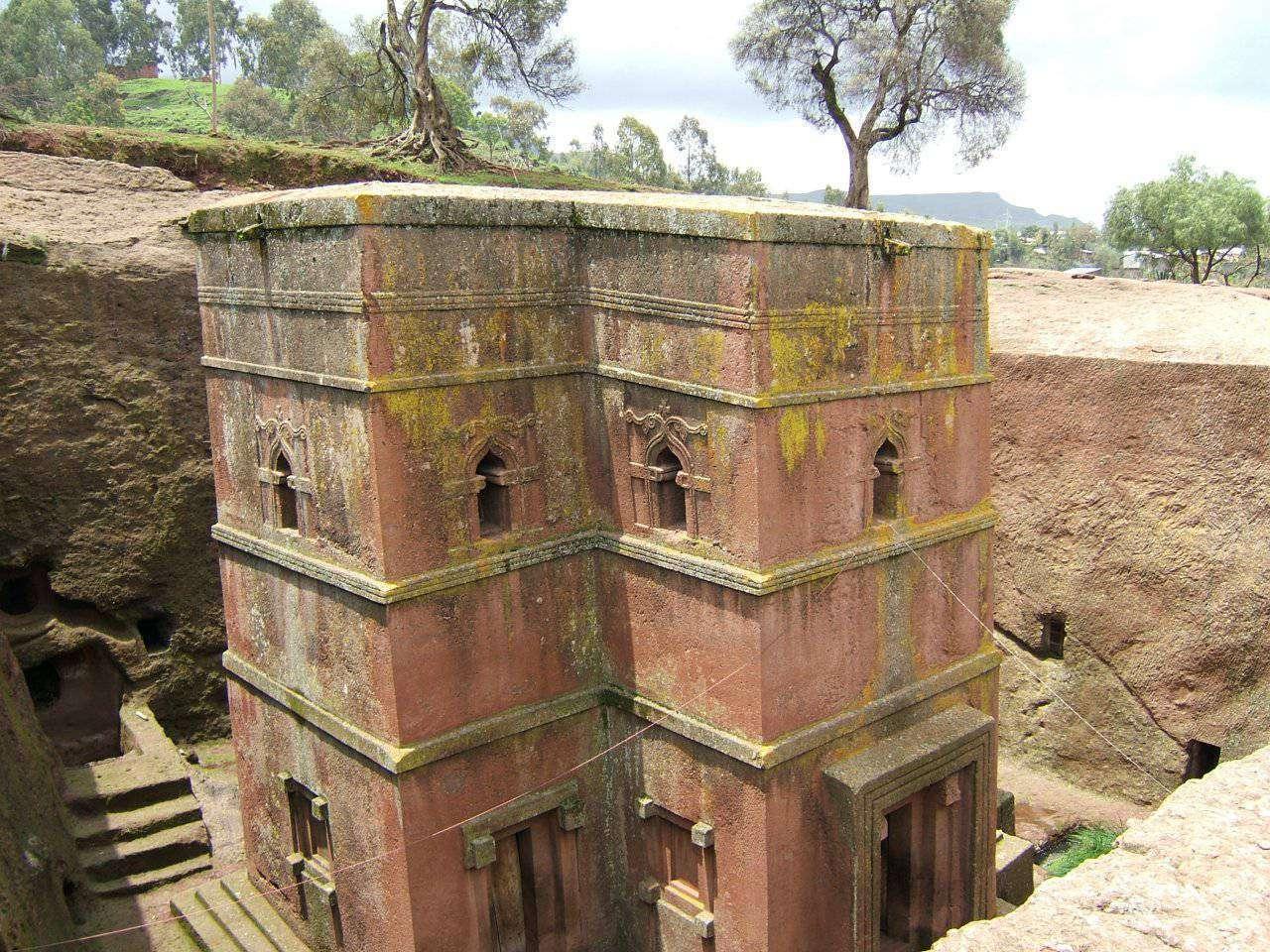 Kościoły skalne w Lalibeli 7