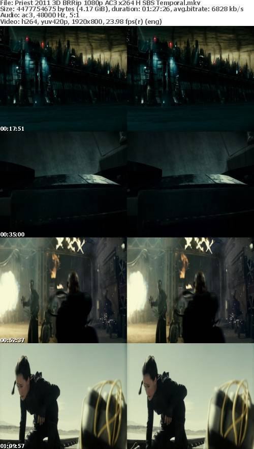 Priest 2011 3D BRRip 1080p AC3 x264 H SBS Temporal