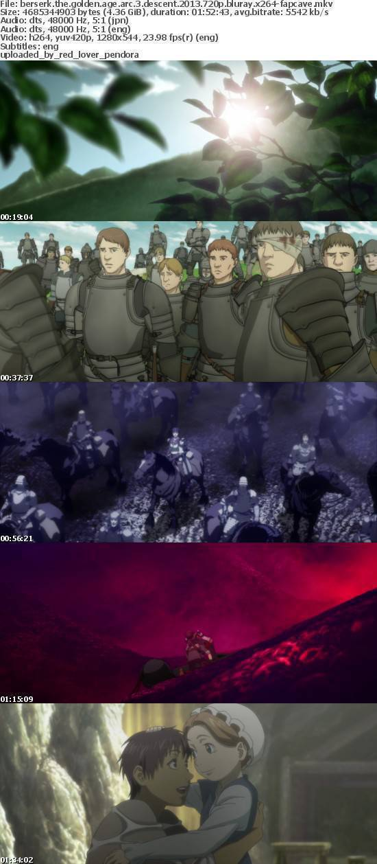 Berserk The Golden Age Arc 3 Descent 2013 720P BluRay x264-FAPCAVE