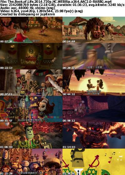 The Book of Life (2014) 720p HC WEBRip x264 AAC2.0-RARBG