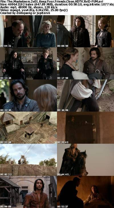 The Musketeers 2x01 Keep Your Friends Close HDTV XviD-FUM