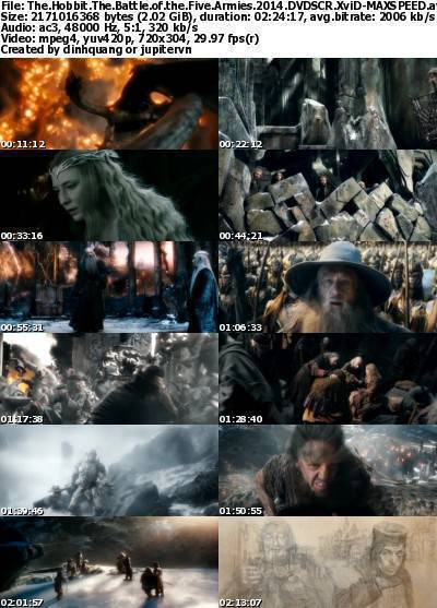 The Hobbit The Battle of the Five Armies (2014) DVDSCR XviD-MAXSPEED