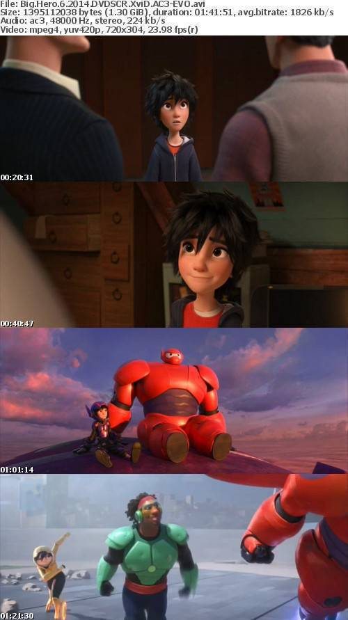 Big Hero 6 2014 DVDSCR XviD AC3-EVO