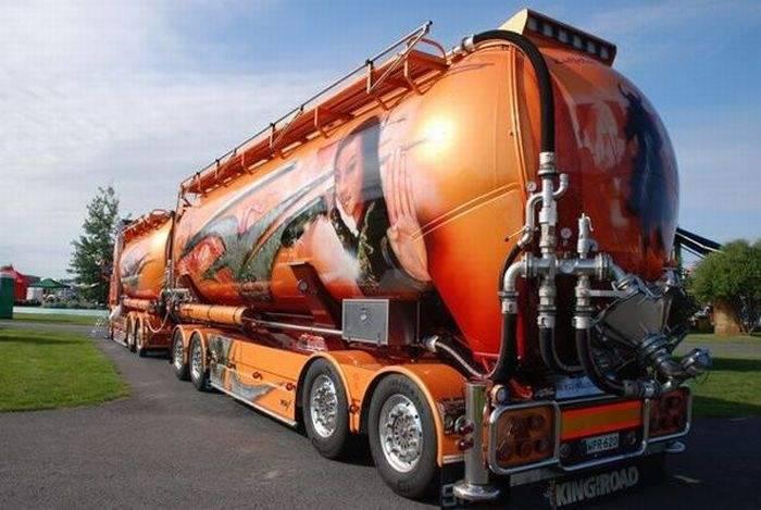 Aerografia: ciężarówki 15