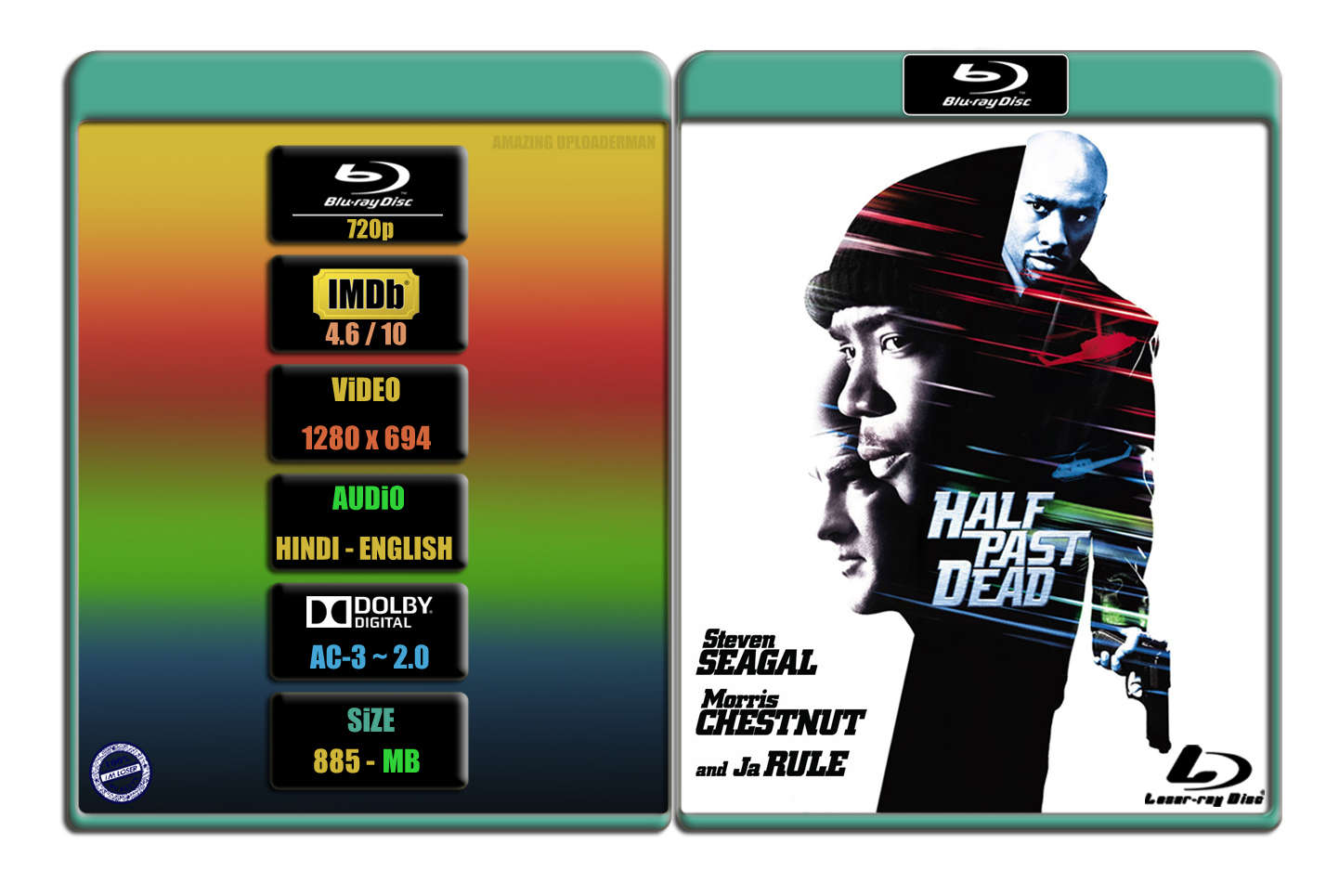 Half Past Dead [2002] 720p BR Rip x264 [AC-3 ~ 2.0] [HINDI – ENG] ® Im Loser ® 887 MB
