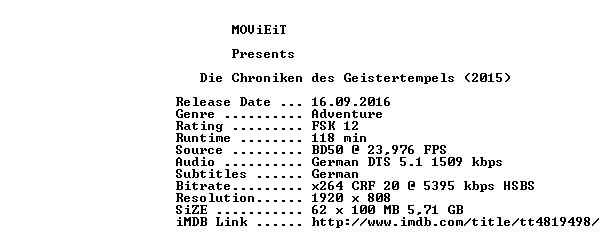 Die Chroniken des Geistertempels 3D 2015 German 1080p BluRay x264-MOViEiT