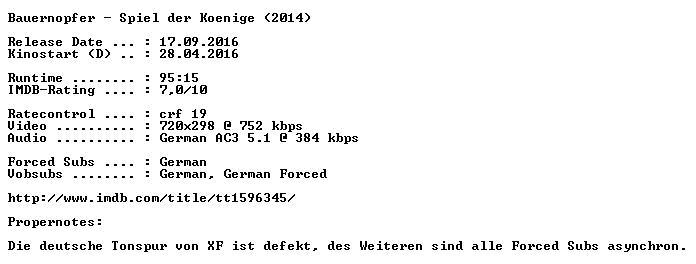 Bauernopfer Spiel der Koenige German 2014 AC3 BDRip x264 PROPER-COiNCiDENCE