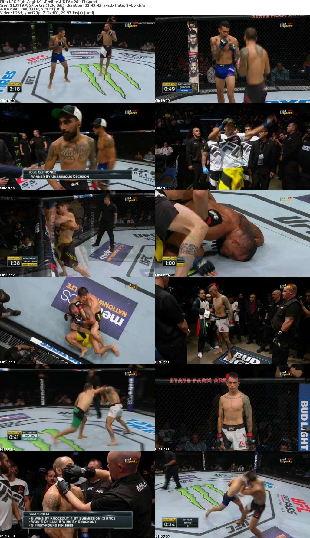 UFC Fight Night 94 Prelims HDTV x264-Ebi