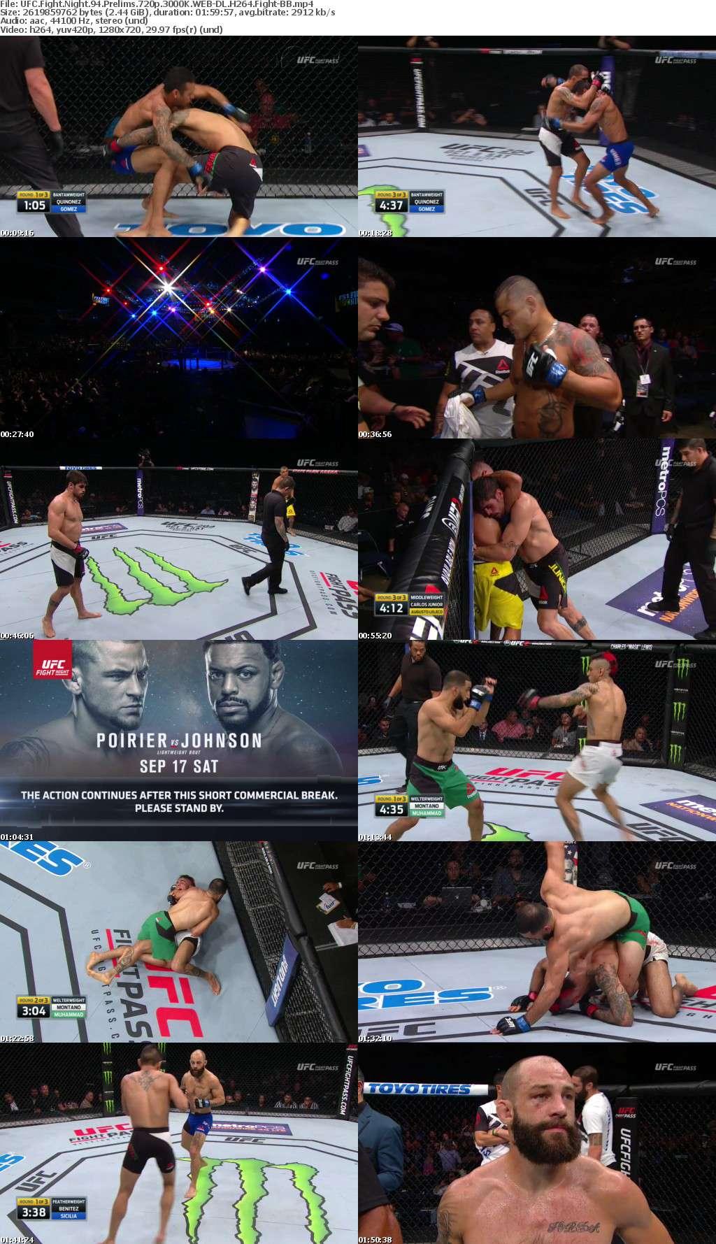 UFC Fight Night 94 Prelims 720p 3000K WEB-DL H264 Fight-BB