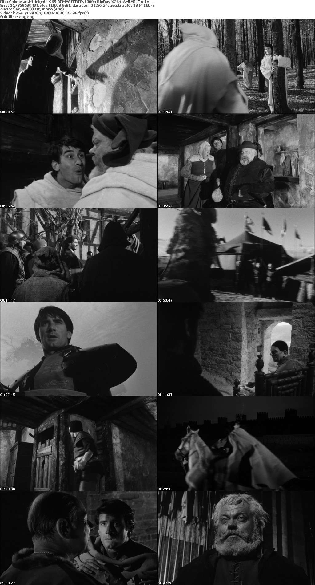 Chimes at Midnight 1965 REMASTERED 1080p BluRay X264-AMIABLE