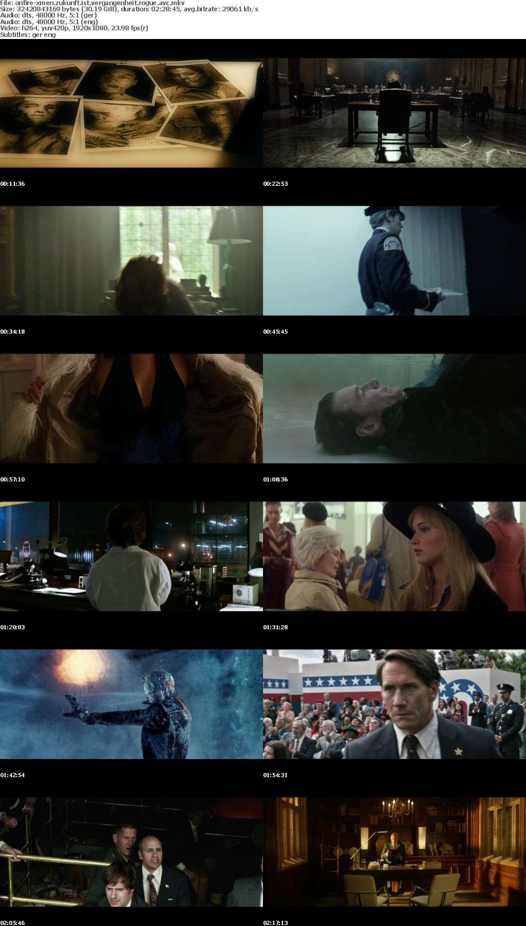 X-Men Zukunft ist Vergangenheit ROGUE CUT 2014 German DL 1080p BluRay AVC-ONFiRE