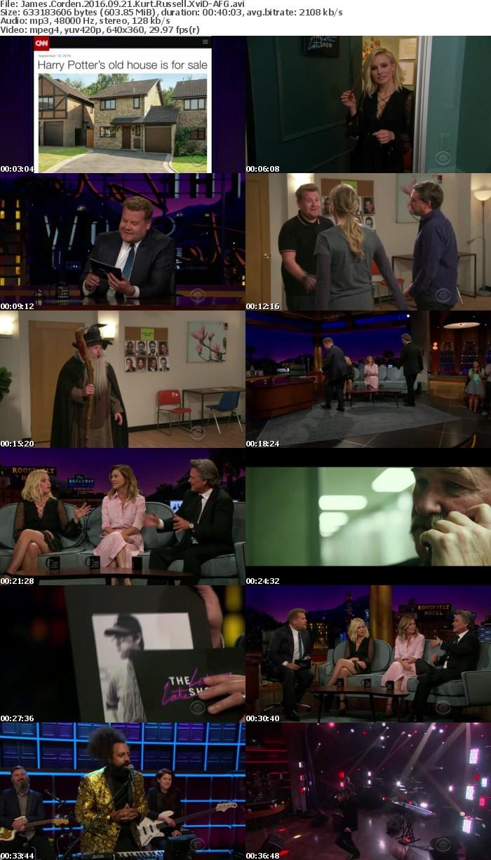 James Corden 2016 09 21 Kurt Russell XviD-AFG
