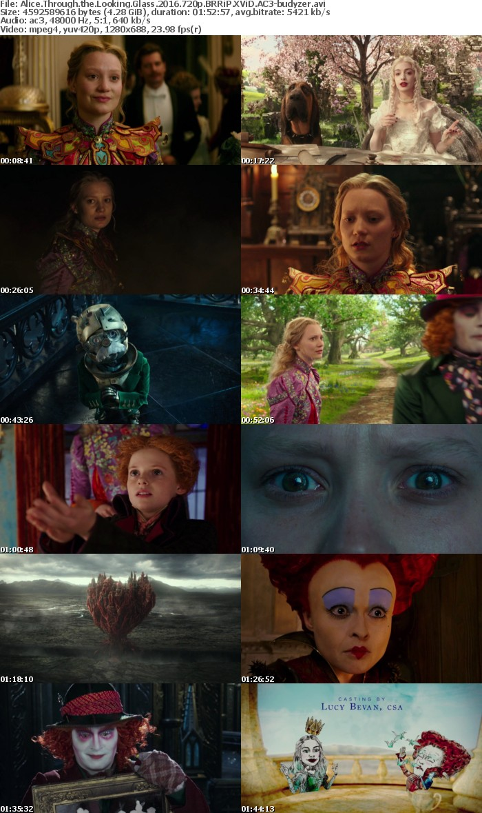Alice Through the Looking Glass 2016 720p BRRiP XViD AC3-budyzer