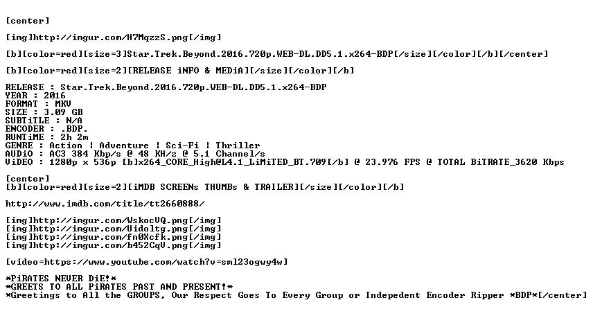 Star Trek Beyond 2016 720p WEB-DL DD5 1 x264-BDP