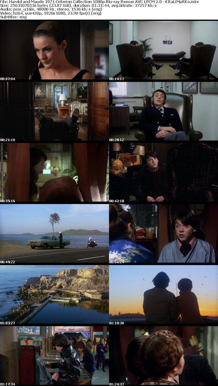 Harold and Maude 1971 Criterion Collection 1080p Bluray Remux AVC LPCM 2 0 - KRaLiMaRKo