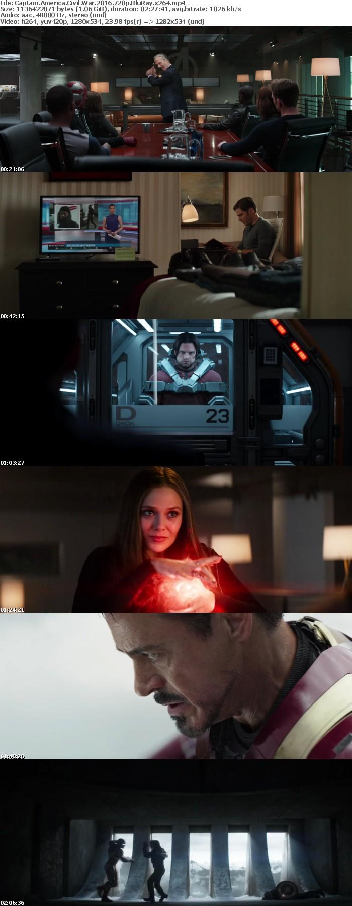 Captain America Civil War 2016 720p BluRay x264