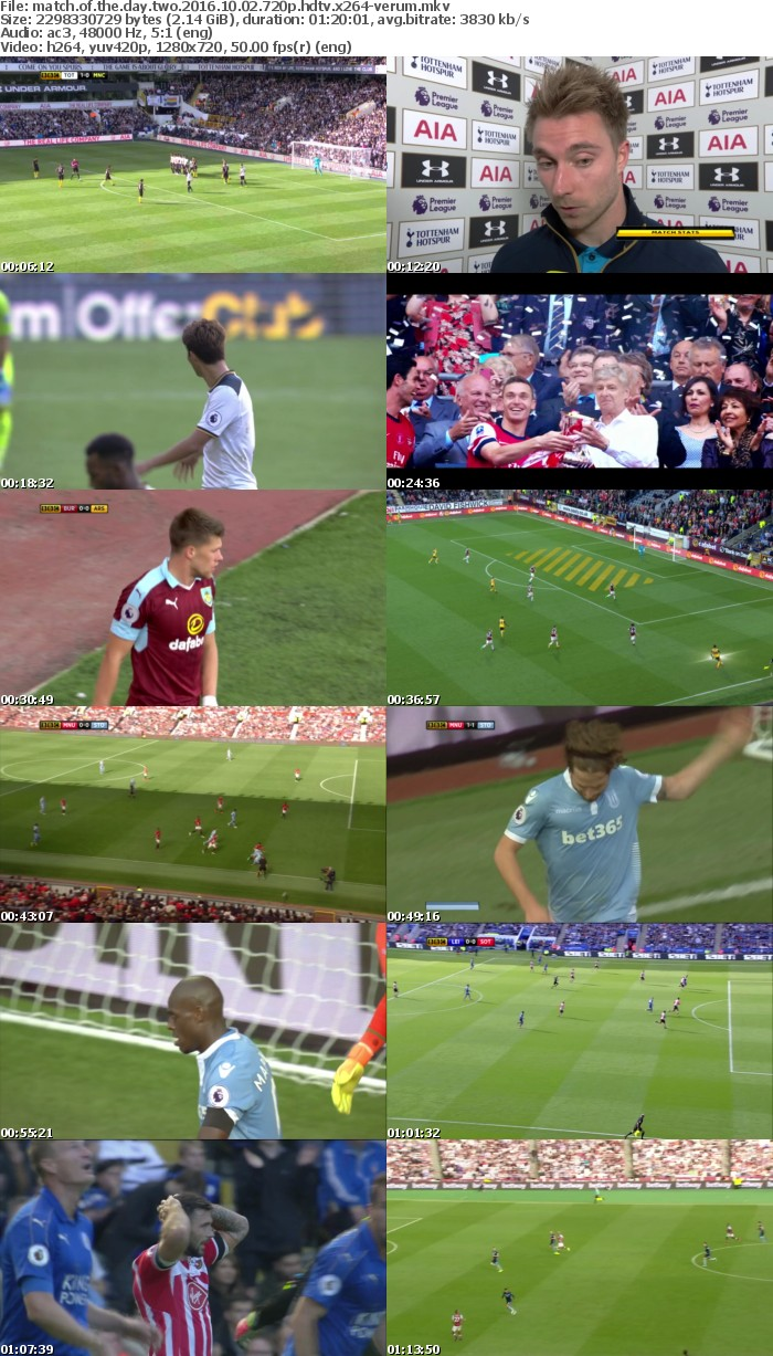 Match Of The Day Two 2016 10 02 720p HDTV x264-VERUM