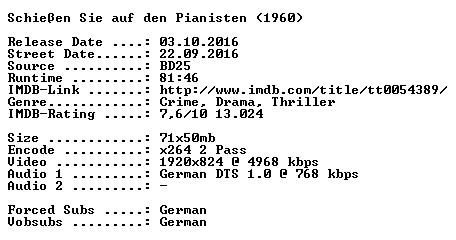 Schiessen Sie auf den Pianisten 1960 German 720p BluRay x264-SPiCY