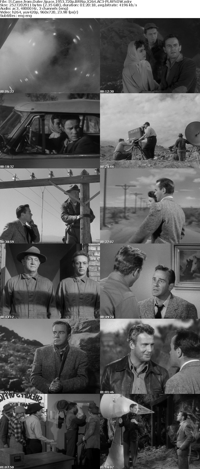 It Came from Outer Space 1953 720p BRRip X264 AC3 PLAYNOW