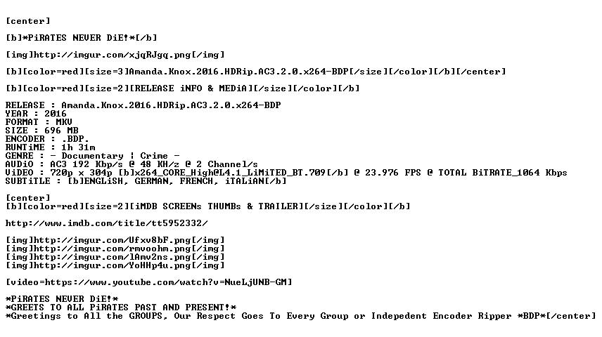 Amanda Knox 2016 HDRip AC3 2 0 x264-BDP
