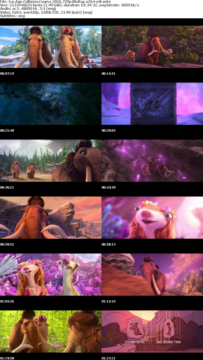 Ice Age Collision Course 2016 720p BluRay x264-x0r