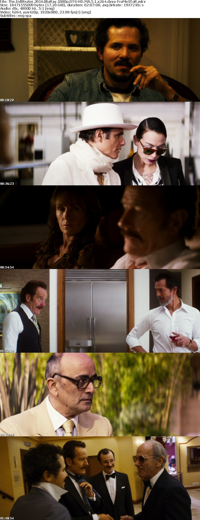 The Infiltrator 2016 BluRay 1080p DTS-HD MA 5 1 x264 dxva-FraMeSToR