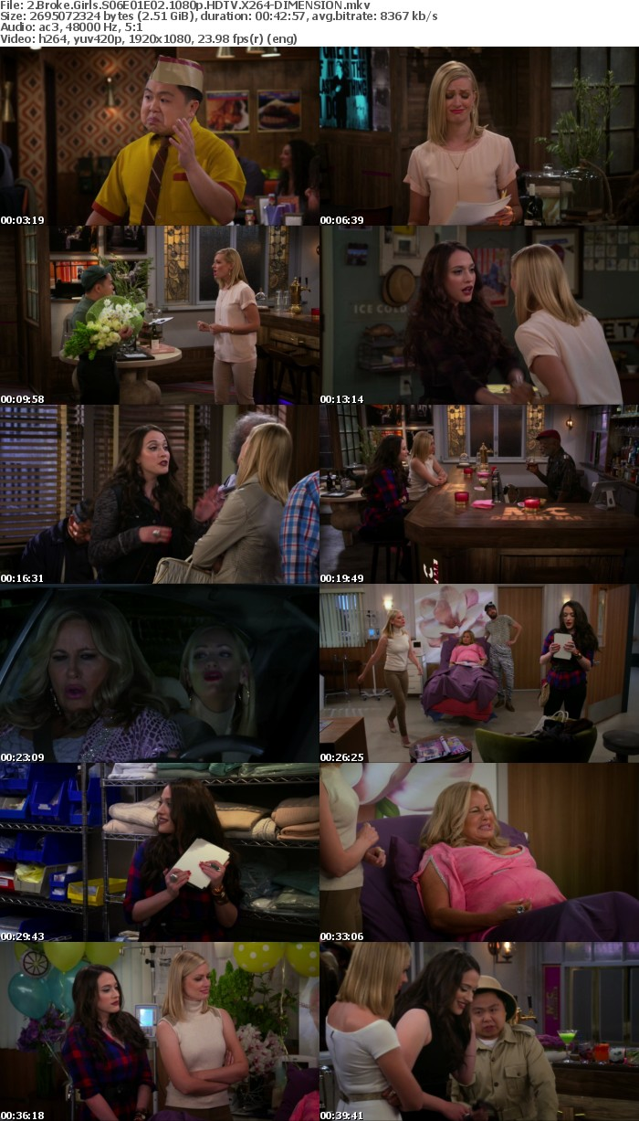 2 Broke Girls S06E01E02 1080p HDTV X264-DIMENSION