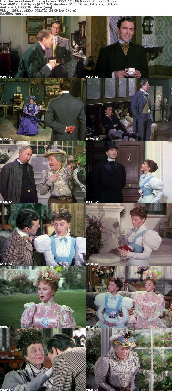 The Importance Of Being Earnest 1952 720p BluRay x264-SiNNERS