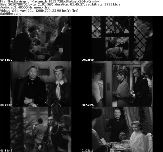 The Earrings of Madam de 1953 720p BRRip x264-x0r