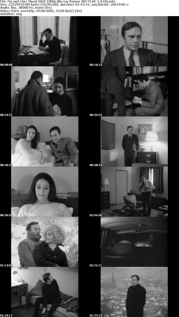 [French] My Night with Maud AKA Ma Nuit Chez Maude 1969 1080p Bluray Remux AVC FLAC 1 0-UQ