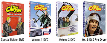 Order The Complete Steve Canyon On TV Volumes 1, 2 and 3