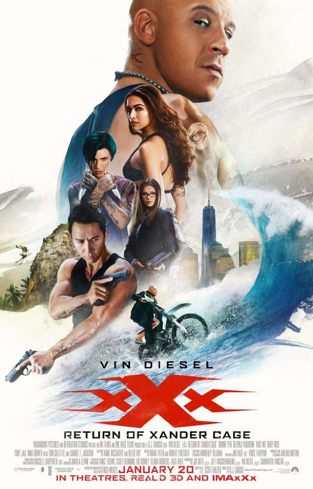 xXx Return of Xander Cage 2017 BDRip 720p X265 Ac3-GANJAMAN