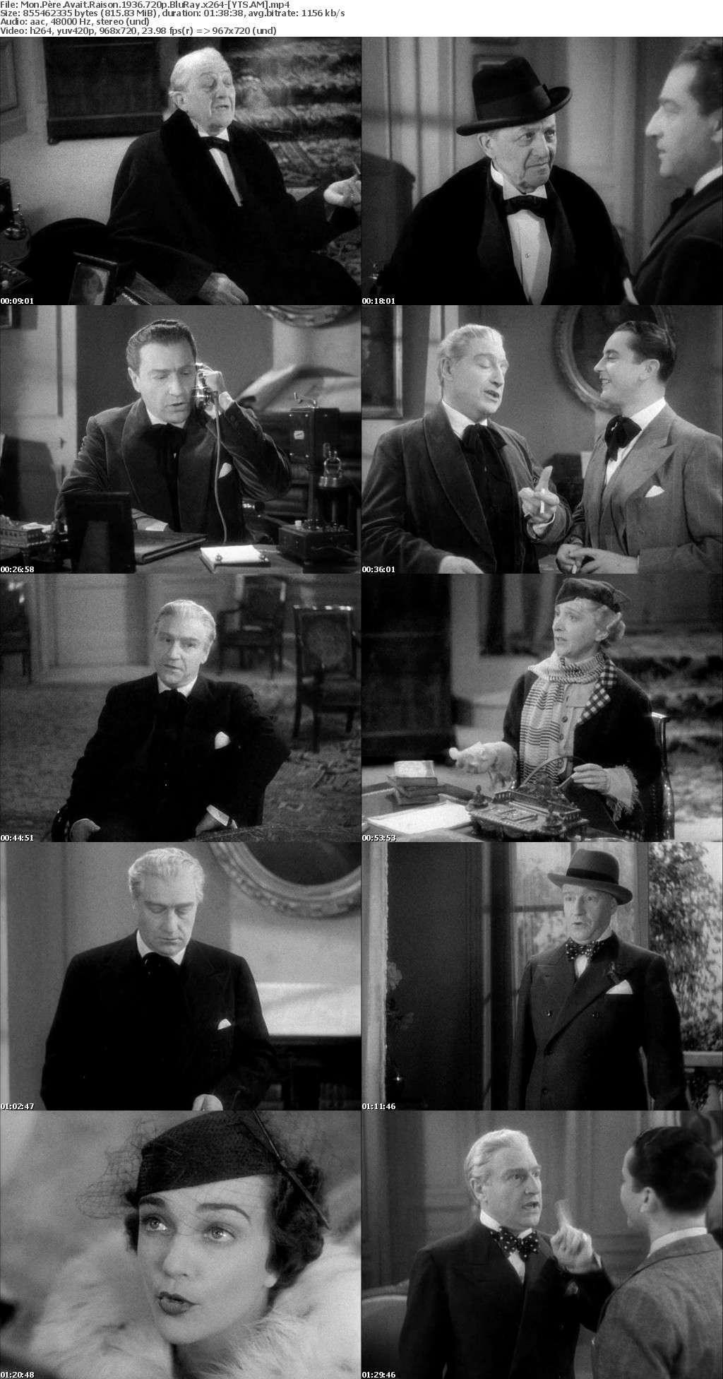 Mon pre avait raison (1936) [BluRay] [720p] YIFY