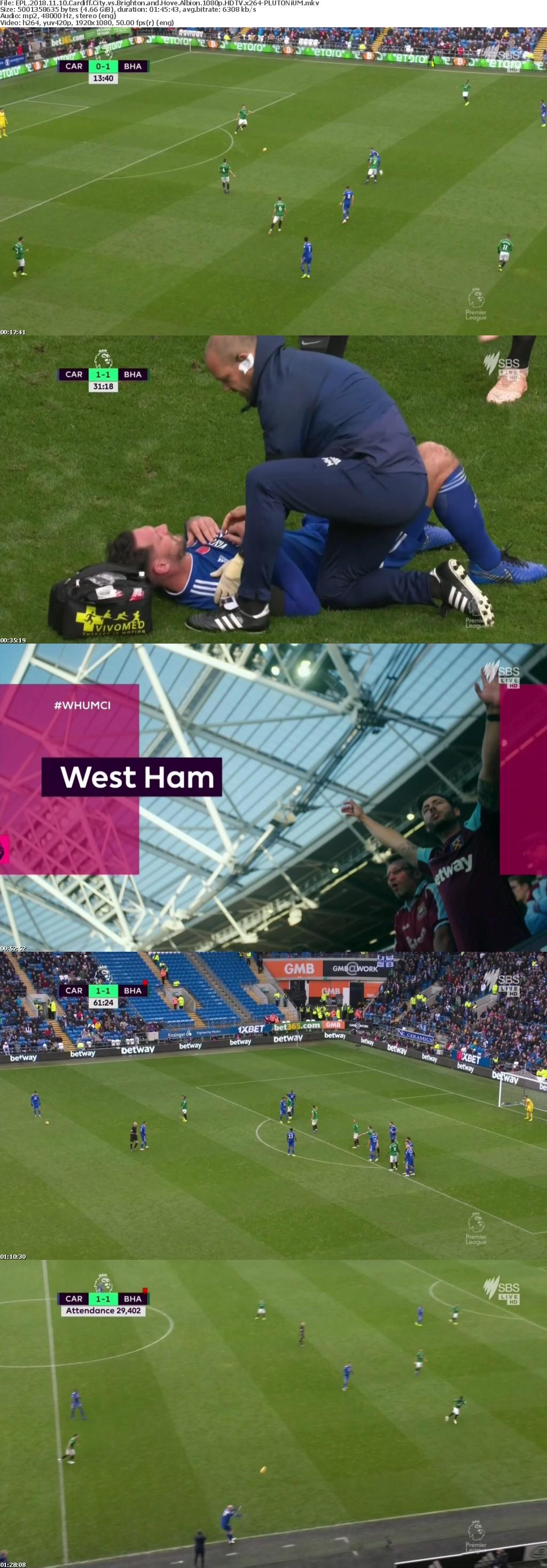 EPL 2018 11 10 Cardiff City vs Brighton and Hove Albion 1080p HDTV x264-PLUTONiUM