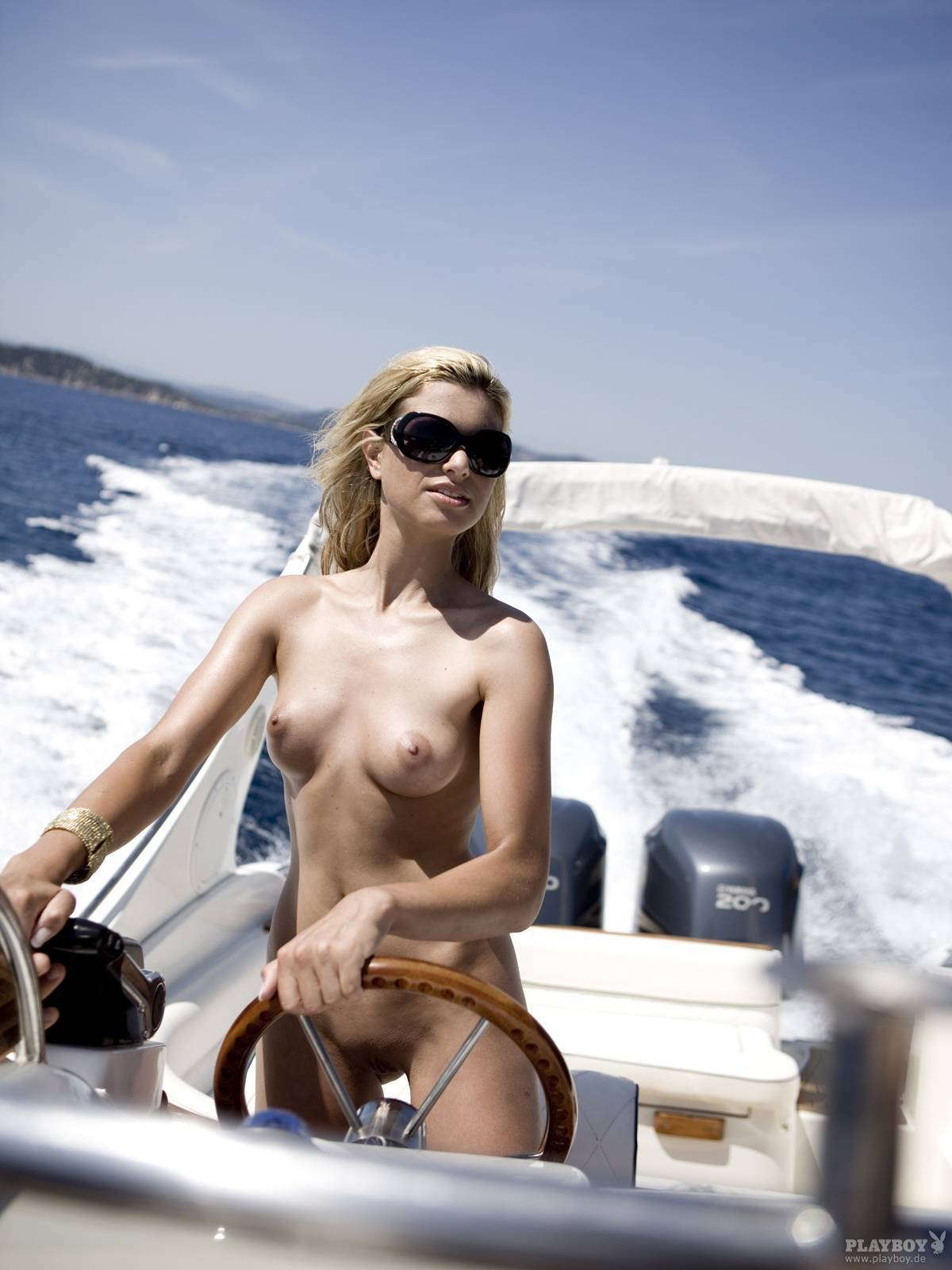 Naked babe in boat what phrase