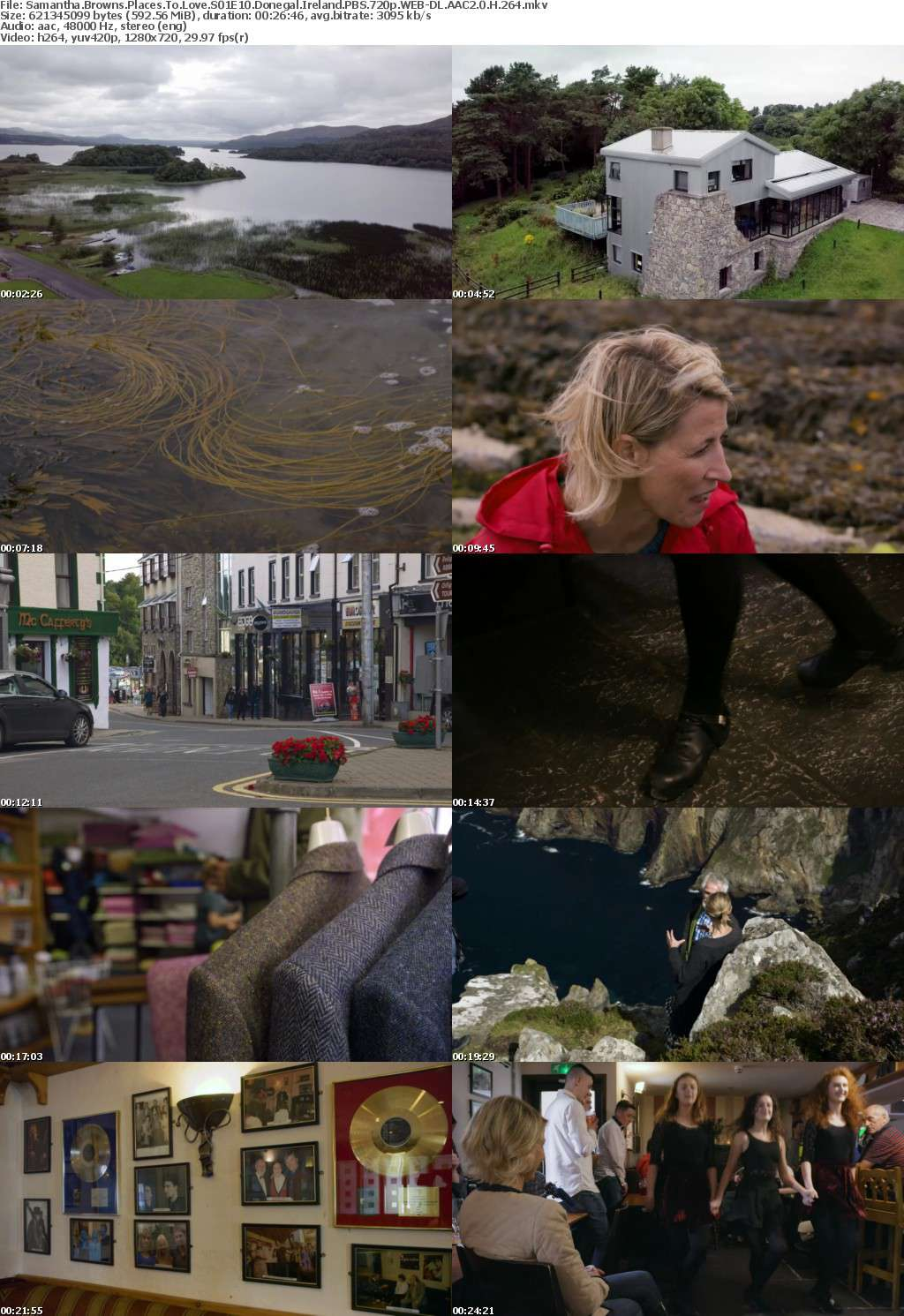 Samantha Browns Places To Love S01E10 Donegal Ireland PBS 720p WEB-DL AAC2 0 H 264