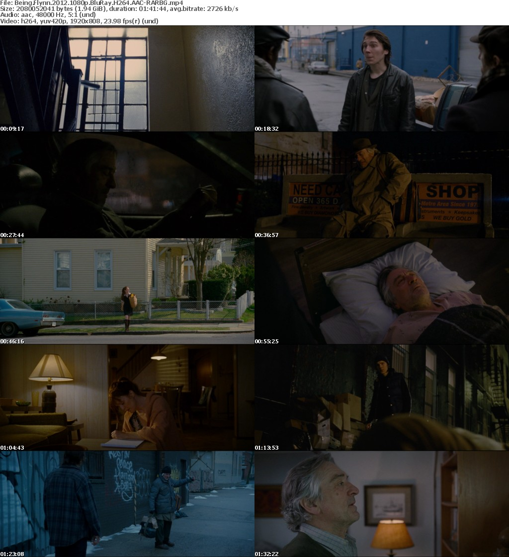 Being Flynn 2012 1080p BluRay H264 AAC-RARBG