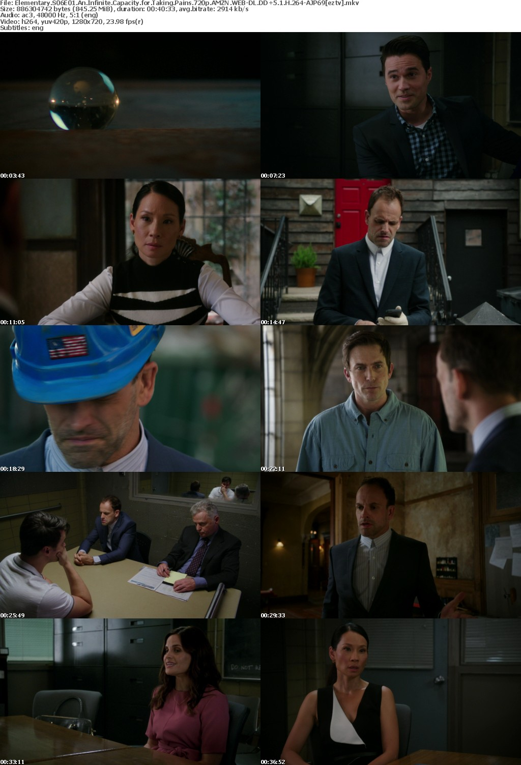 Elementary S06E01 An Infinite Capacity for Taking Pains 720p AMZN WEB-DL DD+5 1 H 264-AJP69