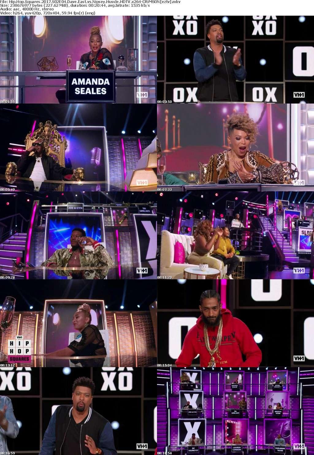 Hip Hop Squares (2017) S02E04 Dave East vs Nipsey Hussle HDTV x264-CRiMSON