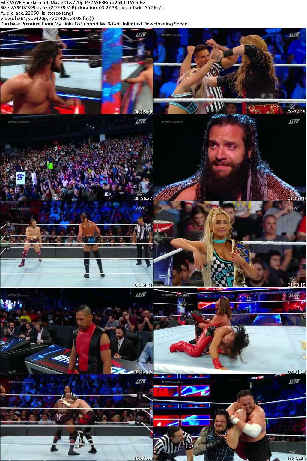 WWE Backlash 6th May 2018 720p PPV WEBRip x264-DLW