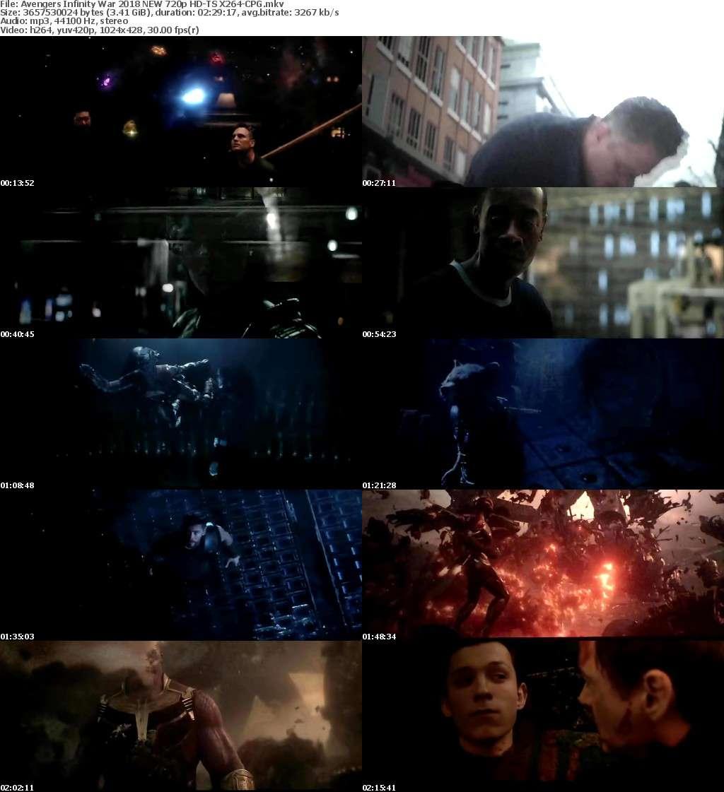 Avengers Infinity War 2018 NEW 720p HD-TS X264-CPG
