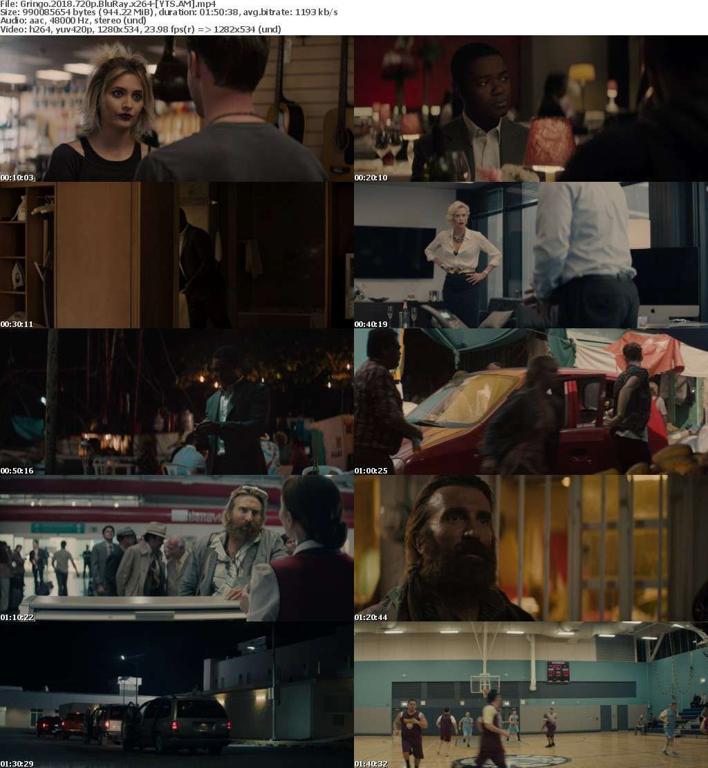 Gringo (2018) [BluRay] [720p] YIFY