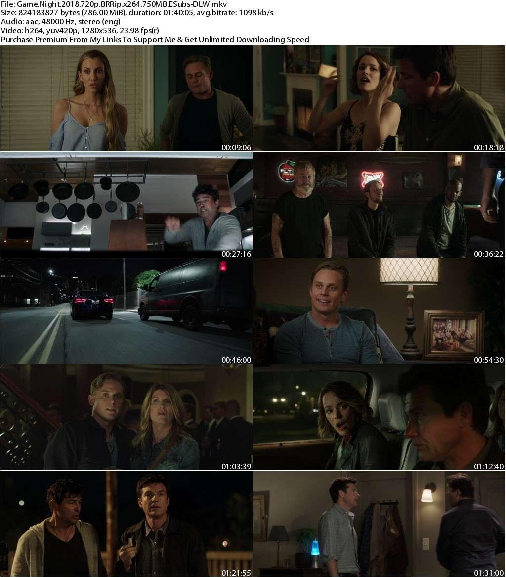 Game Night (2018) 720p BRRip x264 750MB ESubs-DLW