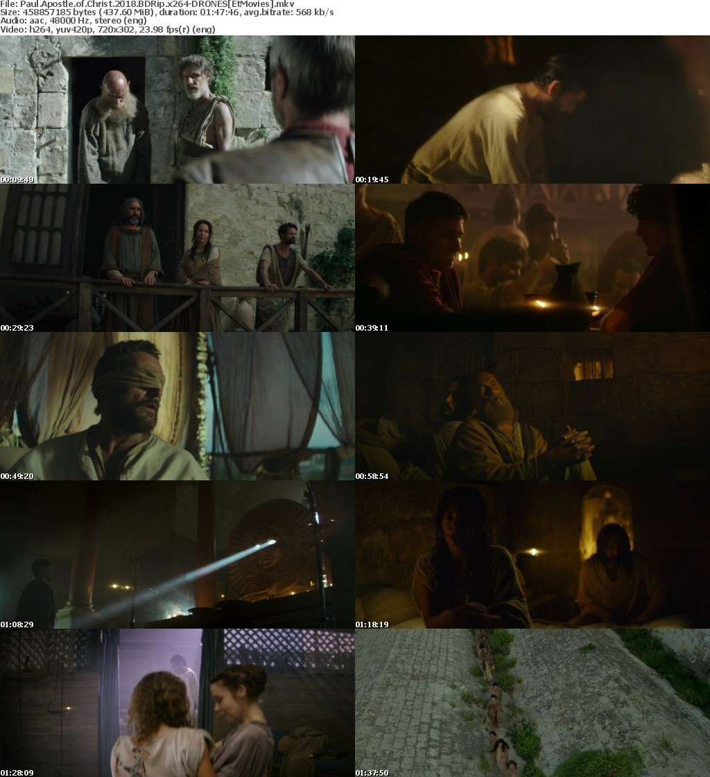 Paul Apostle of Christ 2018 BDRip x264-DRONES[EtMovies]