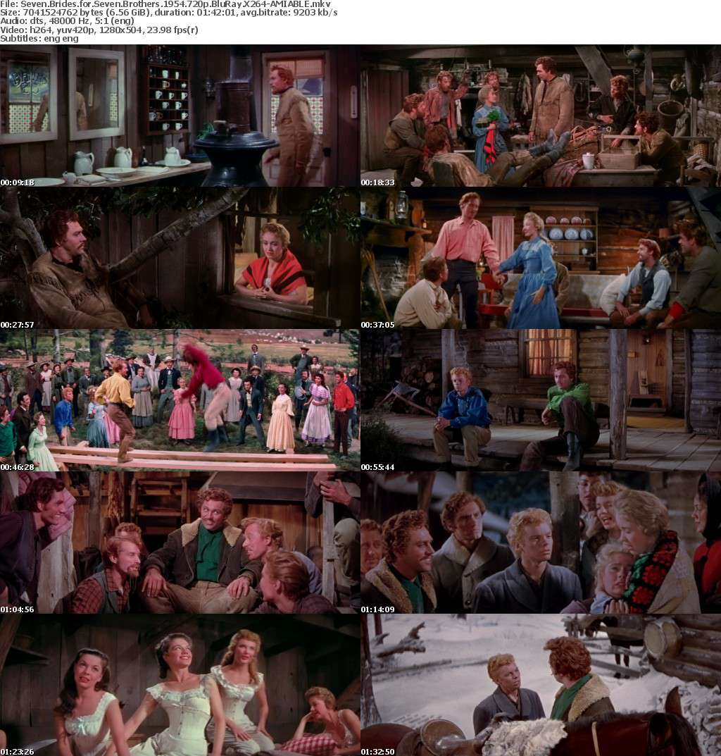 Seven Brides for Seven Brothers 1954 720p BluRay X264-AMIABLE