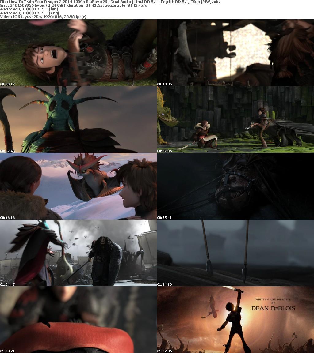 How To Train Your Dragon Collection 1080p BluRay x264 Dual Audio Hindi DD 5.1 - English DD 5.1 ESub ...